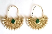 Tanvi Green Earring