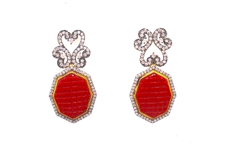 Vansha Earring in Red