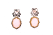 Vansha Earrings in Baby Pink