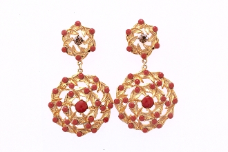 Aphrodite Earring-  Coral