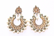 Sohni Earring with Green Detail