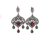 Maharani Earring- Ruby/Emerald