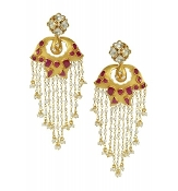 Kumari Earring - Crimson Red