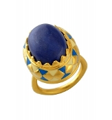 Enamel Royal Blue Ring